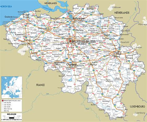 map of belgium with cities detailed road map of belgium belgium detailed road map