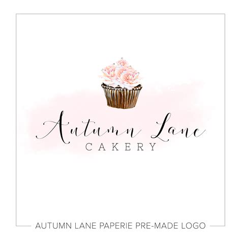 free bakery logo templates floral cupcake bakery logo k97 autumn paperie