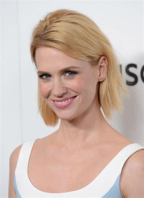 january jones actress hairstyles january jones short straight cut short hairstyles