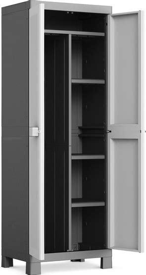 armadietti da esterno in resina kis armadio portascope da esterno in resina con 4 ripiani