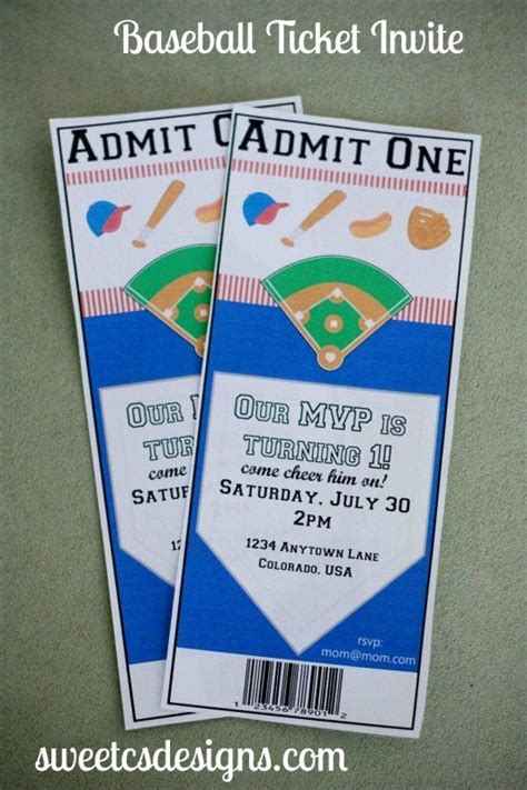 free printable baseball ticket template 7 dinner party essentials sweet c s designs
