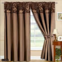 Bathroom Shower Curtains And Matching Accessories by New Fully Lined Ready Made Tape Top Curtains Chocolate