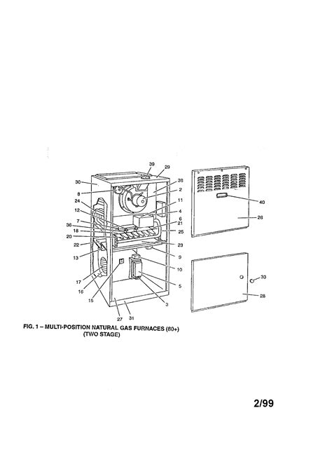 york furnace parts diagram york furnace parts model p1dub12n08001 sears partsdirect