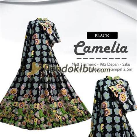 Camellia Syari gamis syar i camelia black pondok ibu