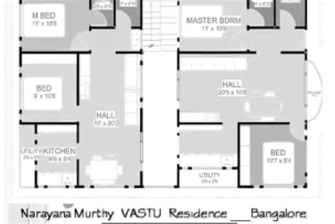 floor plan for 30x40 site 187 30x40 site east facing narayana murthy vastu plan home