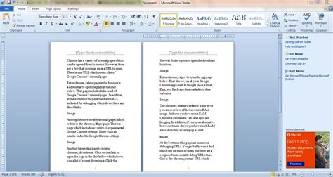 how to set up a booklet document with microsoft word 2010