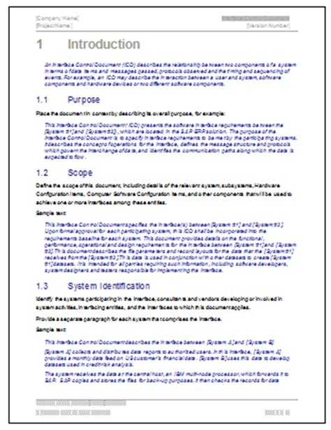Interface Document Template by Interface Document Template Technical Writing Tips