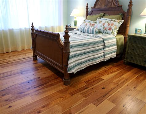Hardwood Floor Bedroom Antique Hickory Hardwood Flooring Traditional Bedroom Other Metro By Olde Wood Ltd