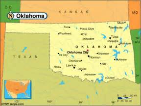 Oklahoma State Map With Cities by Oklahoma Map