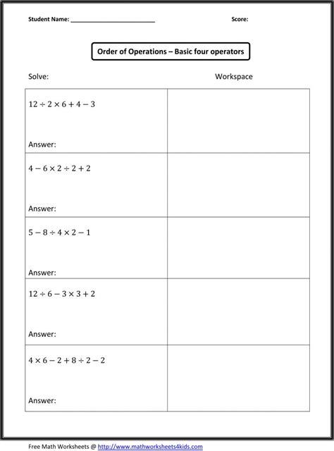 sixth grade math worksheets pdf worksheets for all