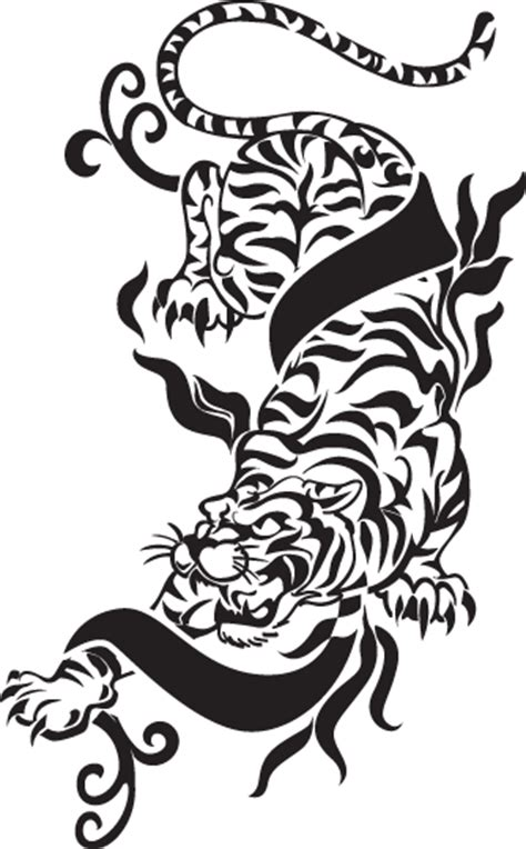 chinese zodiac tiger tattoo designs yin yang symbol
