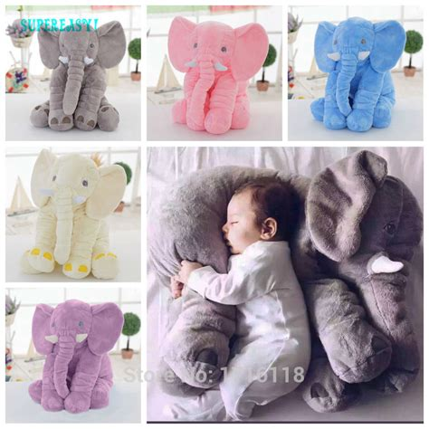Elephant Jumbo jumbo elephant plush baby sleeping cushion lumbar cushion