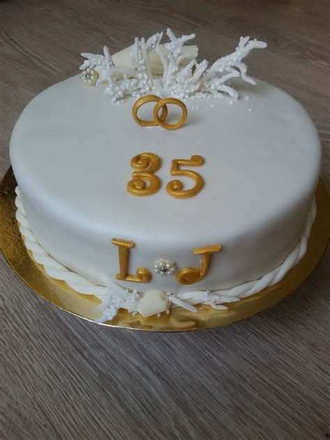 35th Wedding Anniversary by 35th Wedding Anniversary Cake