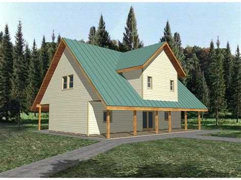 Saltbox Cabin Plans | carroll cove saltbox cabin home plan 088d 0131 house