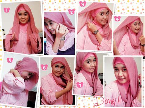 tutorial hijab paris keren foto tutorial hijab modern segi empat