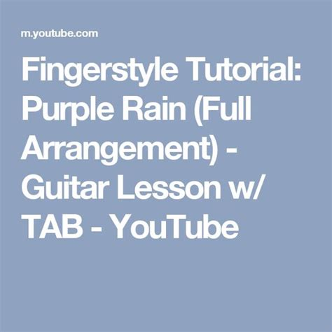 tutorial fingerstyle fingerstyle tutorial purple rain full arrangement
