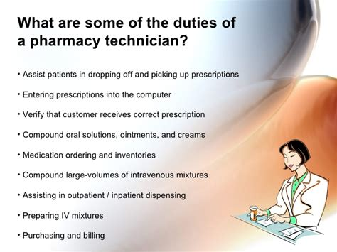 Responsibility Of A Pharmacist by Pharmacy Technician Orientation