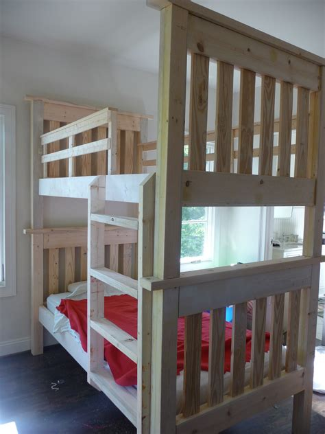 Easy To Build Bunk Beds White Simple Bunk Beds My Quot Quot Project Diy Projects