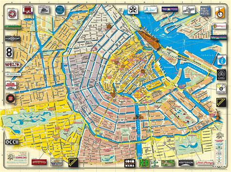 map of tourist maps update 700492 amsterdam travel map amsterdam