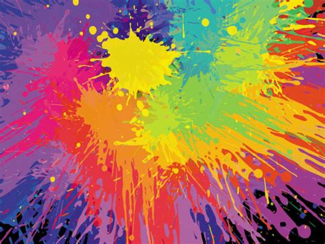 4 designer paint splashed paint effects 03 vector material