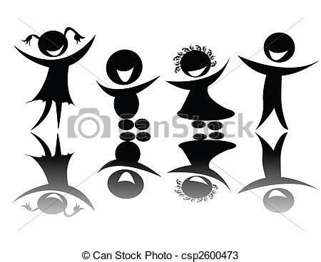 imagenes blanco y negro siluetas dibujos de ni 241 os silueta en negro y blanco ediable