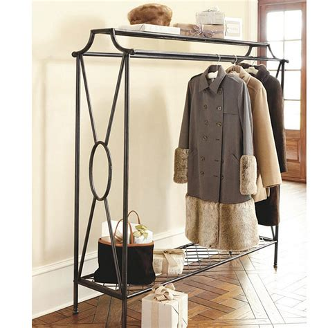 ballard design clothes rack niles double coat rack ballard designs
