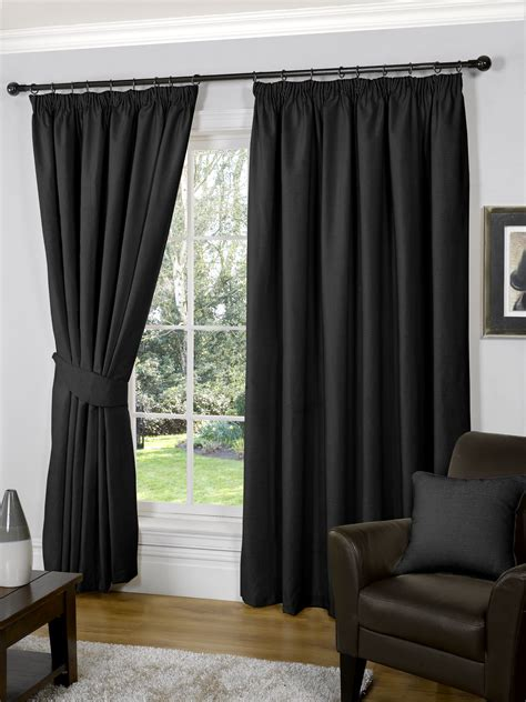 black curtains 90 x 54 90 x 54 black fully lined ready made curtains luxury tape