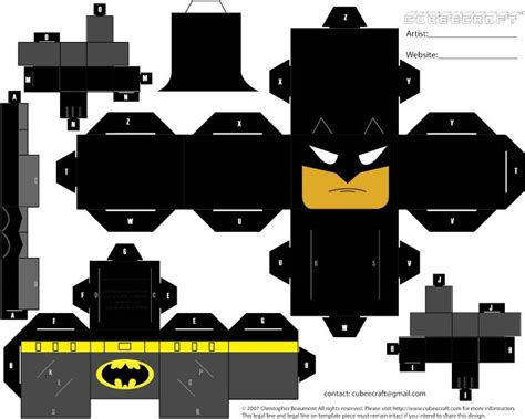 Papercraft Batman - papercraft bensongraphics