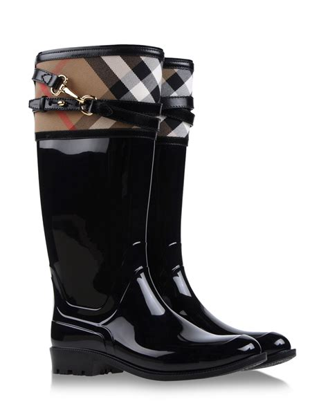 burberry boots sale burberry rainboots wellies in black lyst
