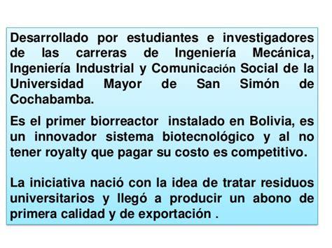 Mba Ingenieria Industrial by Biotecnologia En Cercado De Cochabamba Bolivia