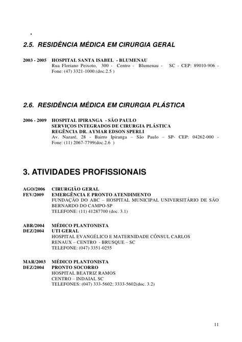 Modelo Curriculum Hospital Curriculum Eduardo Felipe Raulino 2010