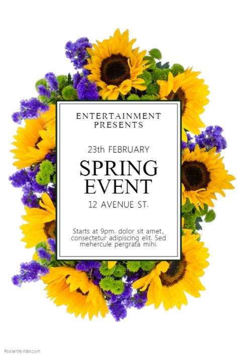 spring event flyer template postermywall