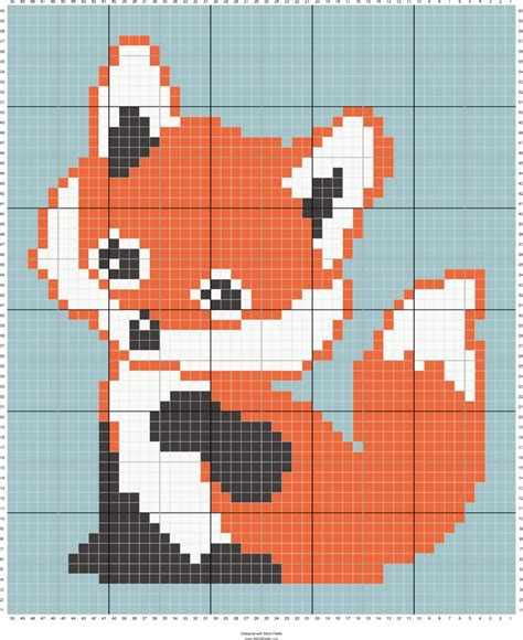free cross stitch pattern maker graphgan generators fox c2c baby blanket designed by suzy walkling stitch