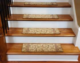 Stair Tread Carpet Beautiful Plush Carpet Stair Treads Ivory Beige Scrollwork
