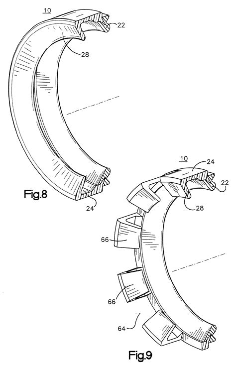 annular section patent us6367802 annular gasket with locking structure