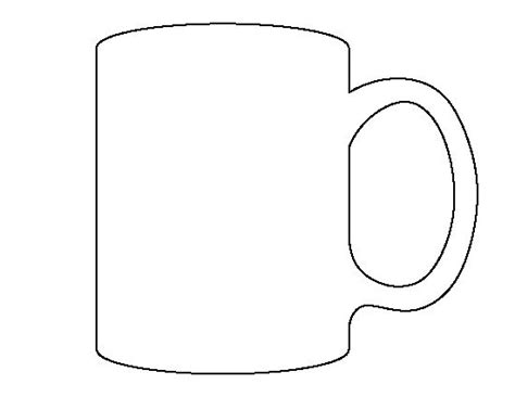 Mug Pattern Use The Printable Outline For Crafts Creating Stencils Scrapbooking And More Coffee Mug Template