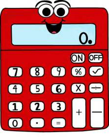 Red cartoon calculator clip art image red calculator with a funny