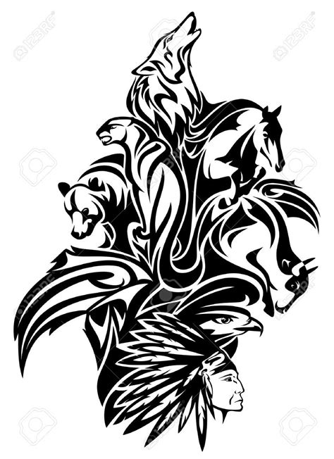 tribal tattoos indian american indian clipart black and white