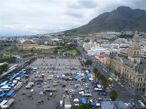 And The City Back On by File Grand Parade Cape Town Aerial View Castle At The