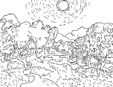 printable coloring pages van gogh free sunflowers vangogh coloring pages