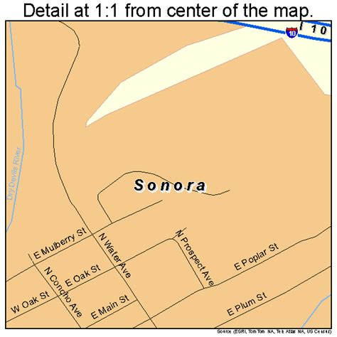 sonora texas map sonora texas map 4868756