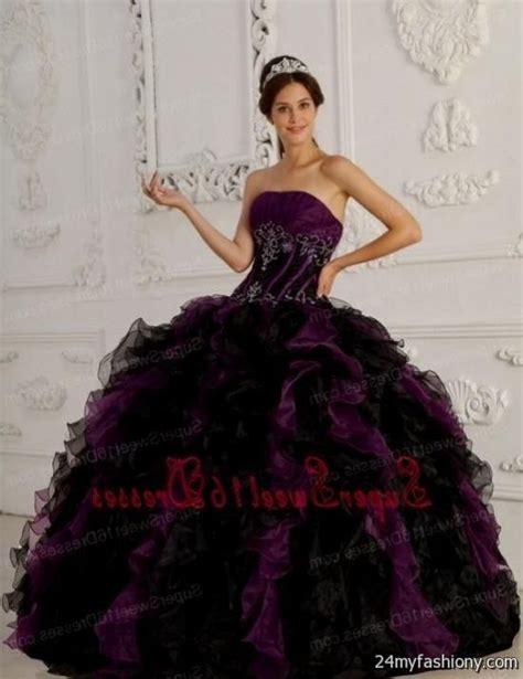 Dress Sweety Black purple and black sweet 16 dresses 2016 2017 b2b fashion