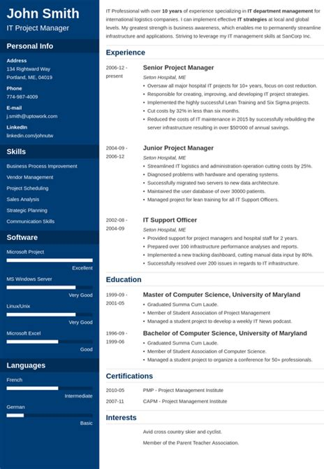 Top 5 Free Resume Templates by 20 Resume Templates Create Your Resume In 5