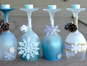 christmas wine glass crafts art ideas crafts