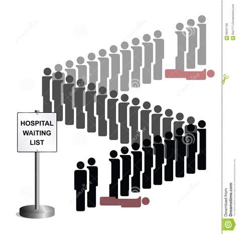 Waiting List hospital waiting list stock vector illustration of