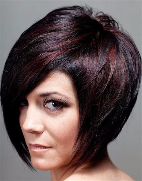hair color hair styles on pinterest 154 pins elegant bob hairstyle with brown highlights on black hair