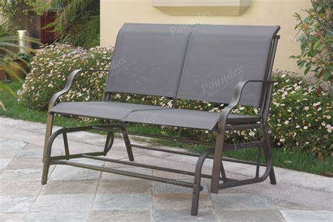 patio glider swing quot miracle quot glider loveseat