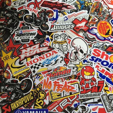 motocross helmet stickers mixed random stickers decal motocross motorcycle car atv