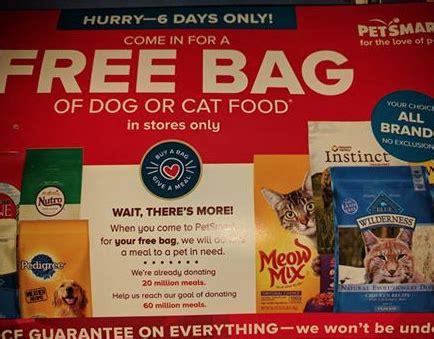 petsmart free bag of food petsmart free bag of or cat food check e mail mailbox freebieshark