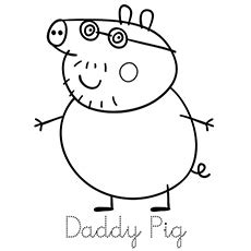 danny dog coloring page marvellous design printable peppa pig coloring pages top